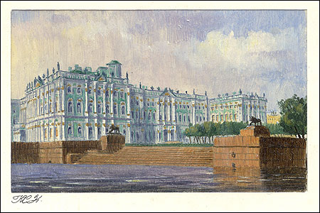 HERMITAGE FROM THE NEVA